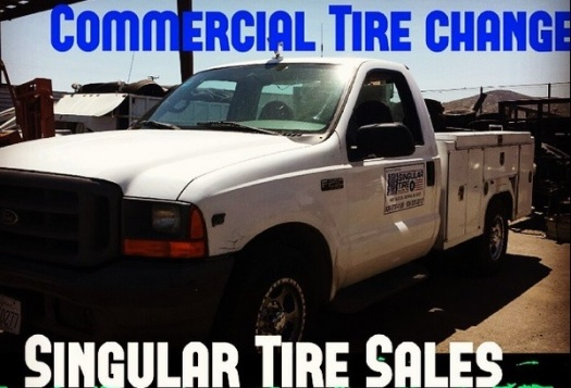 commercial truck tire change - ontario